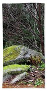 Mossy Rocks Garden Beach Towel