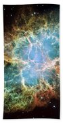 Most Detailed Image Of The Crab Nebula Beach Towel