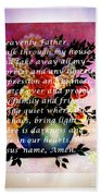 Most Powerful Prayer With Flowers In A Vase Beach Towel