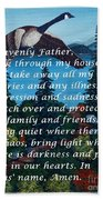 Most Powerful Prayer With Goose Flying And Autumn Scene Beach Towel