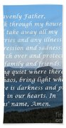 Most Powerful Prayer With Ocean View Beach Towel