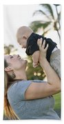 Mother And Baby Beach Towel