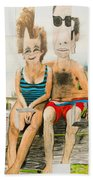 Mother And Father Beach Towel