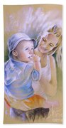 Mother And Son Beach Towel