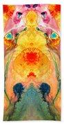 Mother Nature - Abstract Goddess Art By Sharon Cummings Beach Sheet