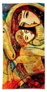 Mother With Child On Horse Beach Towel