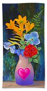 Mothers Day Bouquet Beach Towel