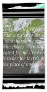 Mother's Day Greeting And Angel Beach Towel