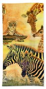 Mother's Day In The Wild Kingdom Beach Towel