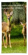 Mother's Protection Beach Towel
