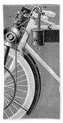 Motorcycle, 1898 Beach Towel