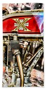 Motorcycle - 1914 Excelsior Auto Cycle Beach Towel