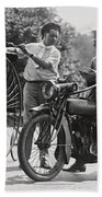 Motorcycle And Velocipede - 1921 Beach Towel