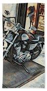 Motorcycle At Philadelphia Eddies Beach Towel
