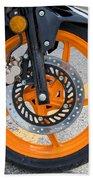 Motorcycle Wheel Beach Towel