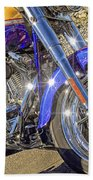 Motorcycle Without Blue Frame Beach Towel