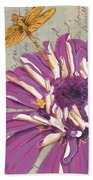Moulin Floral 2 Beach Towel