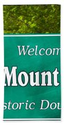 Mount Airy Sign Nc Beach Towel