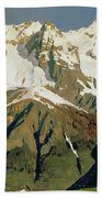 Mount Blanc Mountains Beach Towel