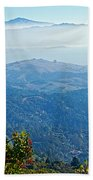 Mount Diablo From Mount Tamalpias-california Beach Towel