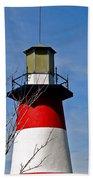 Mount Dora Lighthouse Close Up Beach Towel