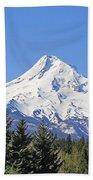 Mount Hood Mountain Oregon Beach Towel by Jennie Marie Schell