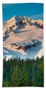 Mount Hood Winter Beach Towel
