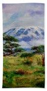 Mount Kilimanjaro Tanzania Beach Towel