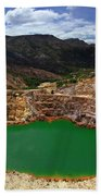 Mount Lyall Mine In Queenstown Beach Towel