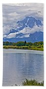 Mount Moran From Oxbow Bend N Grand Teton National Park-wyoming Beach Towel