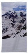 Mount Rainer In The Clouds Beach Towel