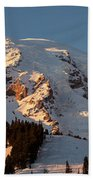 Mount Rainier Alpenglow Beach Towel