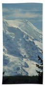 Mount Rainier From Patterson Road Beach Towel
