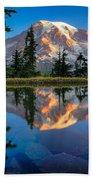 Mount Rainier From Tatoosh Range Beach Towel by Inge Johnsson