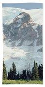 Mount Rainier Peak Beach Towel