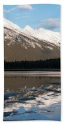 Mount Rundle Reflections Beach Towel