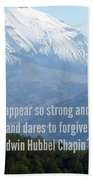 Mount Saint Helen's Text Beach Towel