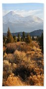 Mount Shasta In The Fall  Beach Towel