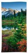 Mount Shuksan Fall Cornucopia Beach Towel