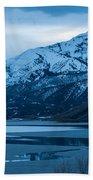 Mount Timpanogos Winter Evening Beach Towel