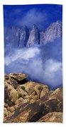 Mount Whitney Alabama Hills California Beach Towel