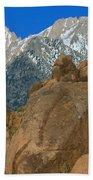 Mount Whitney, Lone Pine, California Beach Towel