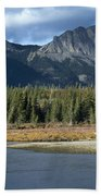 Mount Yamnuska Beach Towel
