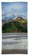 Mountain Across The River Beach Towel