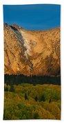Mountain Autumn Sunrise Beach Towel