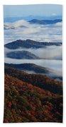 Mountain Fog - Blue Ridge Parkway Beach Towel