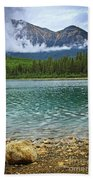 Mountain Lake Beach Towel by Elena Elisseeva