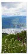Mountain Lake Viewpoint Beach Towel by Carol Groenen