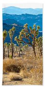 Mountain Layer Landscape From Quail Springs In Joshua Tree Np-ca- Beach Towel
