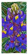 Mountain Lupine In Ancient Incan Pisac In Andes Mountains Above Sacred Valley-peru   Beach Towel
